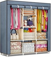 FurnCentral PP Collapsible Wardrobe(Finish Color - Grey)