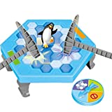 HS Enterprise™ Penguin Breaking Ice | Spin the roulette-Follow the Instruction-Break the ice surface-And Save your Penguin in this Action-Packed Game | Color Blue and White | Material Plastic | Best Gift for Kids | For Children above 3 years
