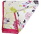 AMZ Soft Multicolor Poly Cotton Floral Single Bed Reversible AC Blanket/Dohar (85 x 55 Inches,Set of 1)