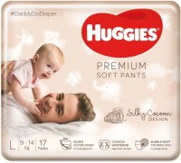 Huggies Premium Soft Pants diapers - L(17 Pieces)