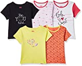 Amazon Brand - Jam & Honey Baby Girl's Starred Regular fit T-Shirt (Pack of 5) (GTEEPO5-HS-B_Multicolor1 0-3 Months)
