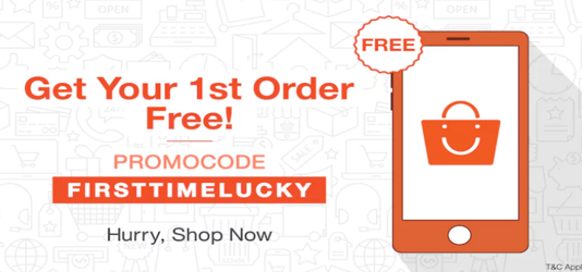 Get your First order free on paytm
